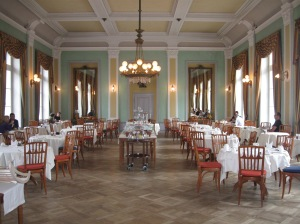 The very swish Hotel Saratz
