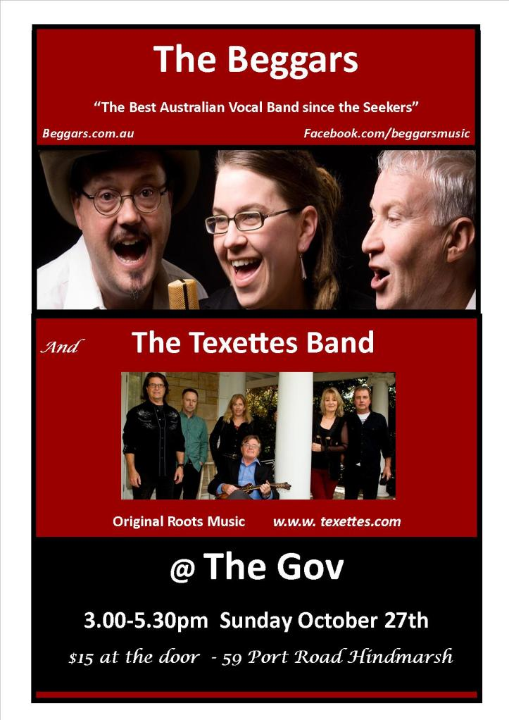 Beggars and Texettes at The Gov Oct 2013
